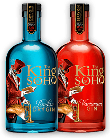 The King of Soho Dry London and Variorum Gin